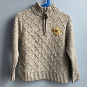 100% Wool Kids Sweater with Zipper